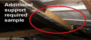 flaws in roof structure