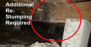 building inspection where additional restumping was required